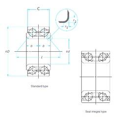 40 mm x 74 mm x 40 mm  NSK 40BWD06D wheel hub bearing BAHB636060C bearings