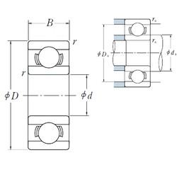 6 mm x 19 mm x 6 mm  NSK Miniature Deep groove ball bearing 626 626Z 626ZZ RS 2RS size 6X19X6 mm