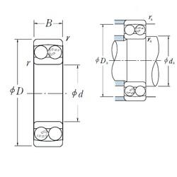 6 mm x 19 mm x 6 mm  Japan NSK self-aligning ball bearing 126 TN9 6X19X6 mm