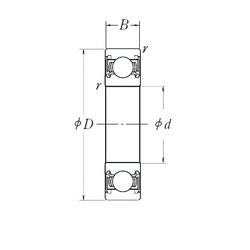 10 mm x 30 mm x 9 mm  NSK 6200DDU Deep Groove Ball Bearings 6200DDUCM Japan Ball Bearings for motors