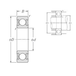 12 mm x 28 mm x 8 mm  NTN Deep groove ball bearing 6001LLU 12x28x8 mm