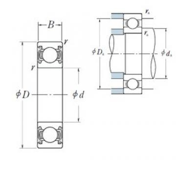 12 mm x 28 mm x 8 mm  NSK 6001ZZ size 12*28*8 nsk Miniature bearing 6001 Deep Groove Ball Bearing 6001