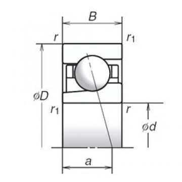 12 mm x 28 mm x 8 mm  12BGR10X Bearing NSK High Precision Ball Screw Bearing 12BGR10X NSK Bearing Size: 12x28x8mm