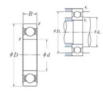 12 mm x 28 mm x 8 mm  NSK 6001 2RS ZZ Deep Groove Ball Bearings 12x28x8 mm
