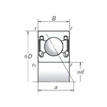 12 mm x 28 mm x 9 mm  NSK 12BSA10T1X Angular contact ball bearing 12BSA10T1X Bearing size: 12x28x8mm