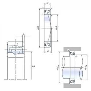 35 mm x 62 mm x 14 mm  35BNR10X Bearing NSK High Precision Ball Screw Bearing 35BNR10X NSK Bearing Size: 35x62x14mm