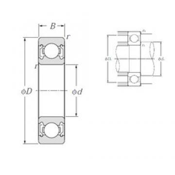 12 mm x 28 mm x 8 mm  NTN bearing 6001ZZ deep groove ball bearing 12x28x8mm