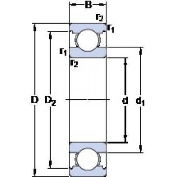 20 mm x 52 mm x 15 mm  SKF 6304 Deep groove ball bearings 6304 Bearing size 20X52X15