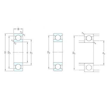 10 mm x 22 mm x 6 mm  Miniature SKF Deep Groove Ball Bearing 61900 2rs zz