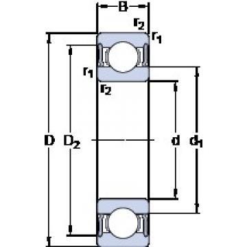 45 mm x 58 mm x 7 mm  SKF 61809-2RS1 Deep groove ball bearing size: 45x58x7 mm 61809-2RS1/C3