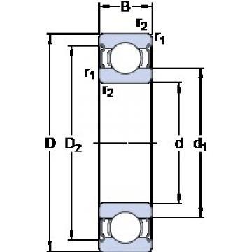6 mm x 19 mm x 6 mm  SKF 626-2Z Deep groove ball bearing 626-Z Bearings size: 6x19x6 mm 626-2Z/C3