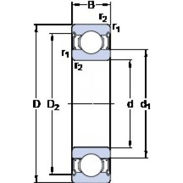 65 mm x 120 mm x 23 mm  SKF 6213-2Z Deep groove ball bearing 6213-Z Bearings size: 65x120x23 mm 6213-2Z/C3