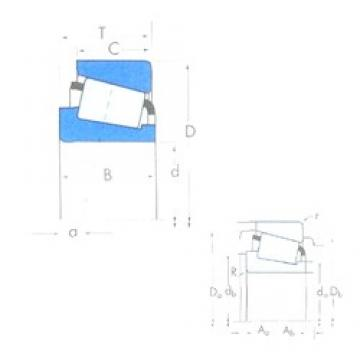 50,8 mm x 82,931 mm x 22,225 mm  international standard Taper roller bearing LM104949/LM104912 Bearings TIMKEN