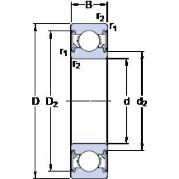 20 mm x 52 mm x 15 mm  SKF 6304-2RSH Deep groove ball bearing 6304-RSH Bearings size: 20x52x15 mm 6304-2RSH/C3