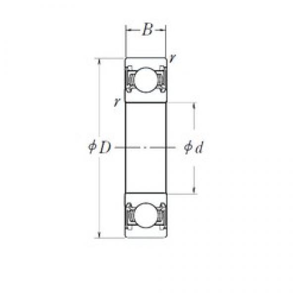 10 mm x 30 mm x 9 mm  NSK 6200DDU Deep Groove Ball Bearings 6200DDUCM Japan Ball Bearings for motors #1 image