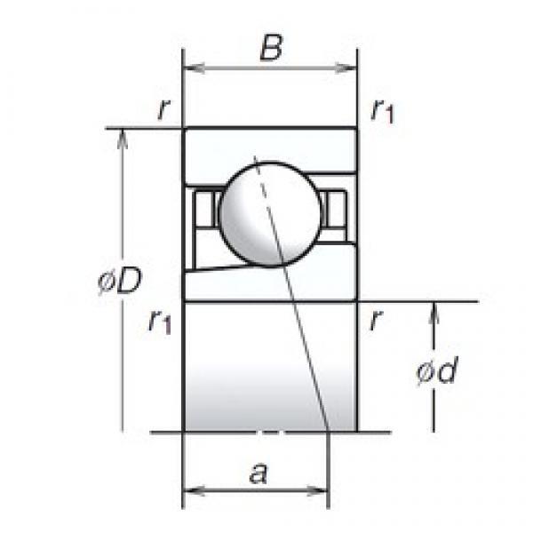 12 mm x 28 mm x 8 mm  12BGR10H Bearing NSK High Precision Ball Screw Bearing 12BGR10H NSK Bearing Size: 12x28x8mm #1 image
