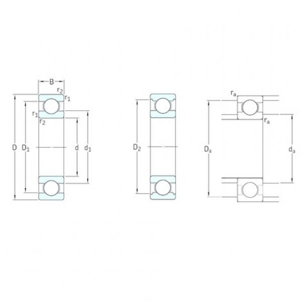 10 mm x 22 mm x 6 mm  Miniature SKF Deep Groove Ball Bearing 61900 2rs zz #1 image