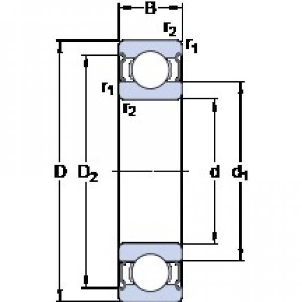 6 mm x 19 mm x 6 mm  SKF 626-2Z Deep groove ball bearing 626-Z Bearings size: 6x19x6 mm 626-2Z/C3 #1 image